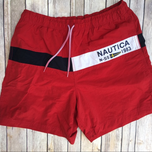 eec2d9bc862b5 Nautica Swim | Vintage L Sailing Team Trunks | Poshmark